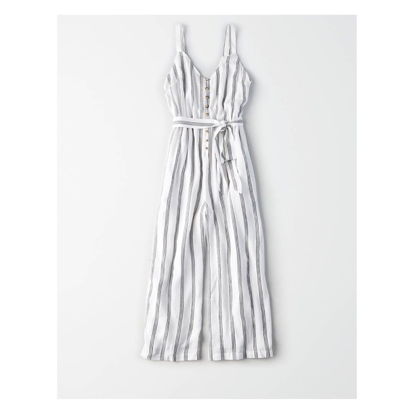ec4c56f377e American Eagle Outfitters Pants - AE Striped Front Culotte Jumpsuit